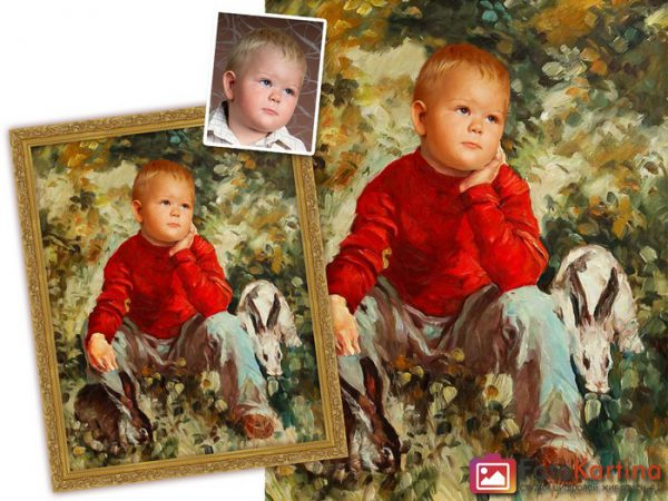 Детский портрет по фотографии