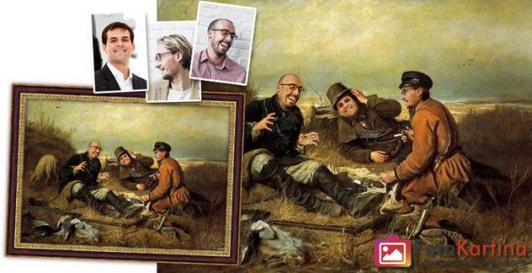 Коллективный сюжетный портрет по фото #1