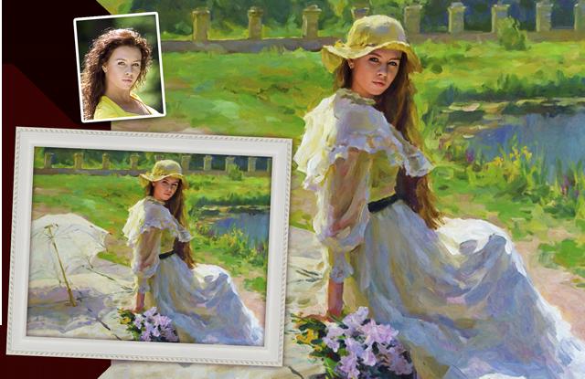 портрет по фото в историческом стиле