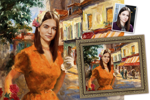 портрет по фотографии в образе