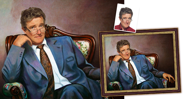 мужской портрет по фотографии