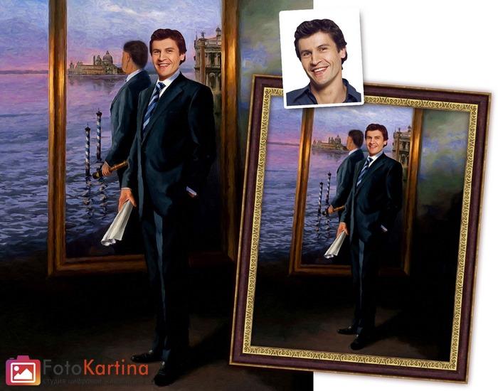 Картина на подарок мужчине 75