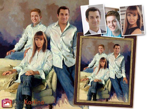 Классический семейный портрет
