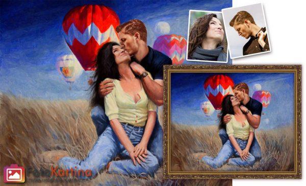Портрет по фото в романтическом образе #14