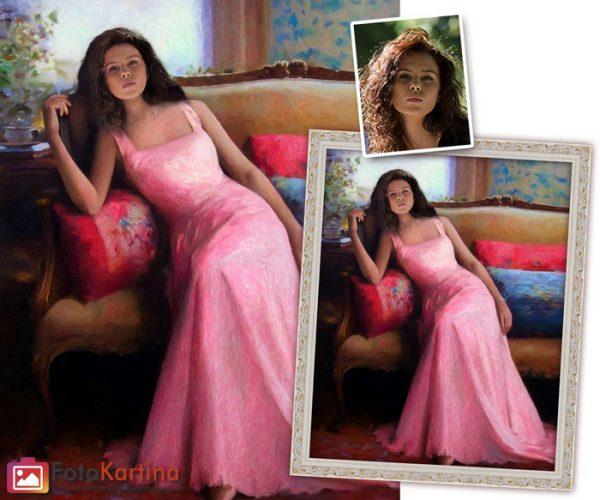 Женский портрет по фото в стильнои образе